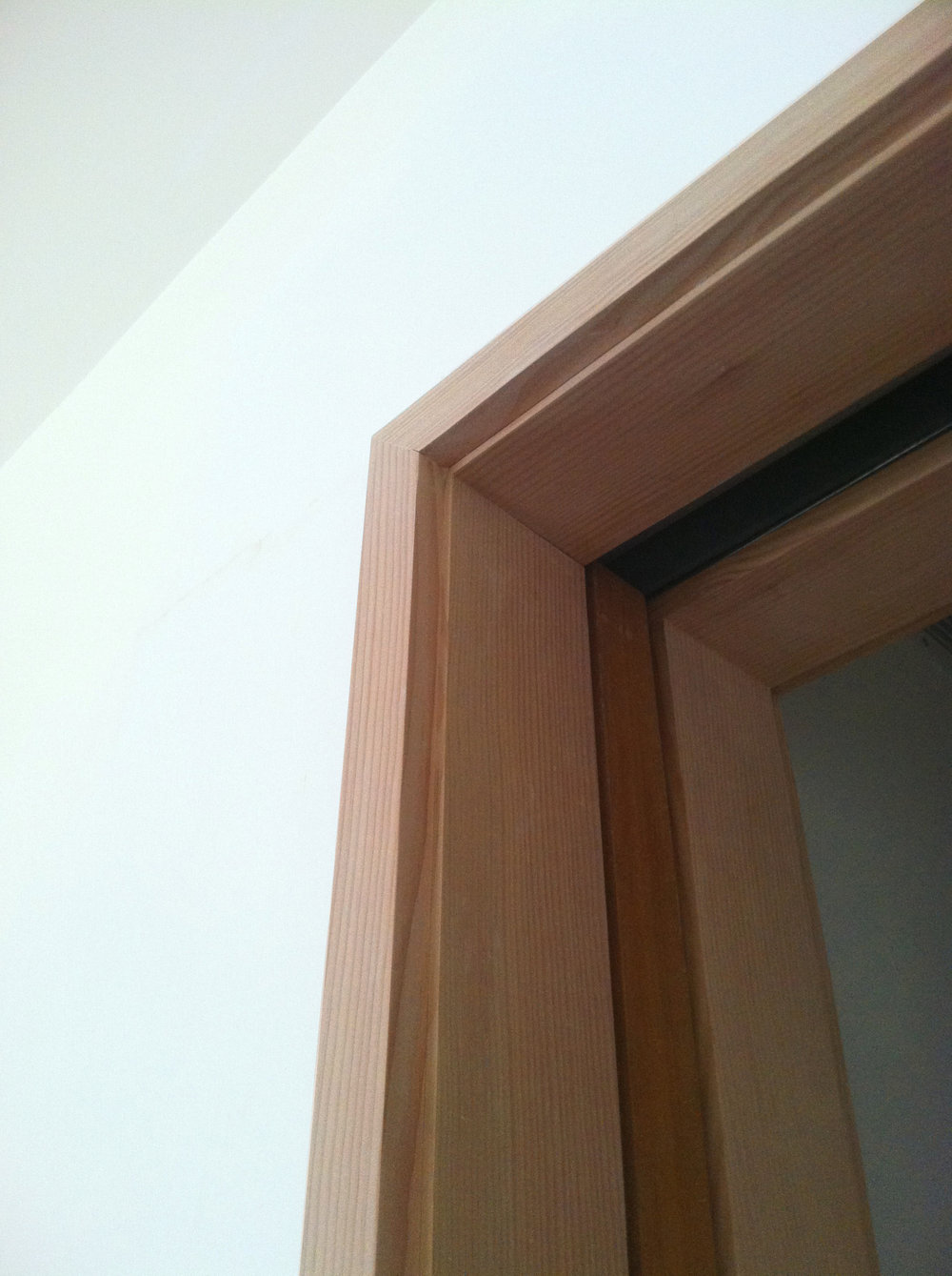 Douglas Fir casings: Passive House Brownstone