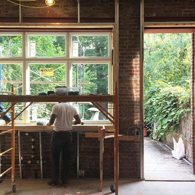 Installing these windows was a nice way to end the day. #designbuild #brownstone