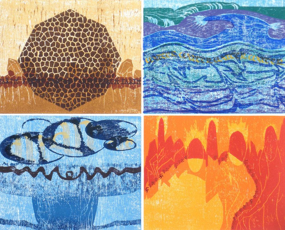 Four Elements Art : Printmaking gallery u2014 calligraphic art