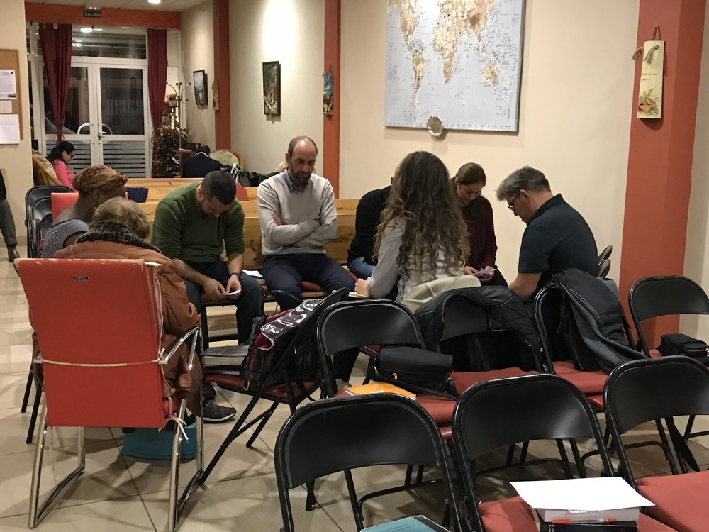 Prayer Service Thursdays at 20:00 - On Thursday evenings we gather for a short study of God's Word and a time that we spend in prayer together.'Be careful for nothing; but in every thing by prayer and supplication with thanksgiving let your requests be made known unto God. ' Philippians 4:6