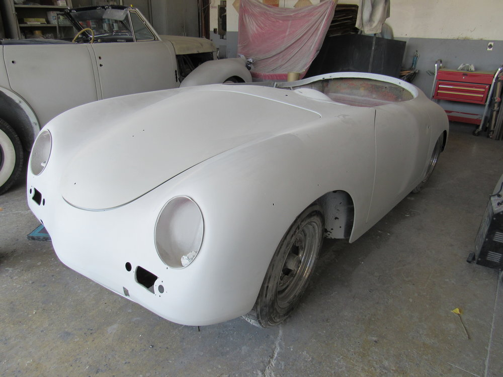 1957 Porsche Speedster restoration at Cypress Auto Body in Hawaiian Gardens, CA.