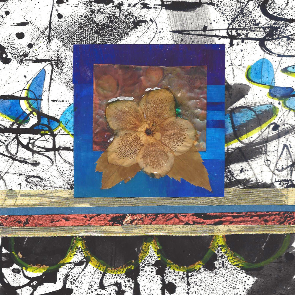 Late Bloomer-multi-media collage 8x8 with acrylic pour.jpg