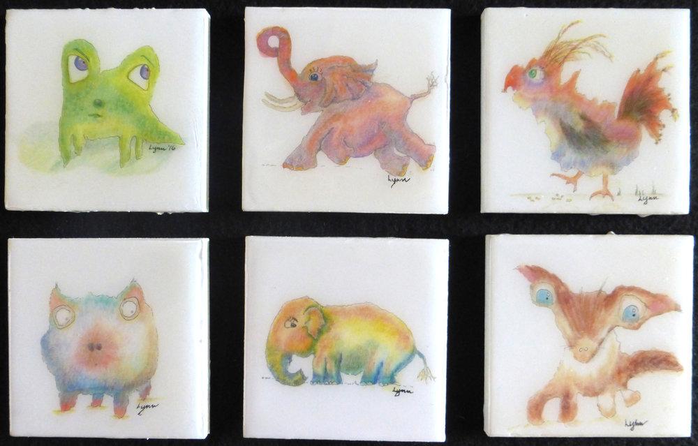 6 animals in acrylic pour-4x4 each.jpg