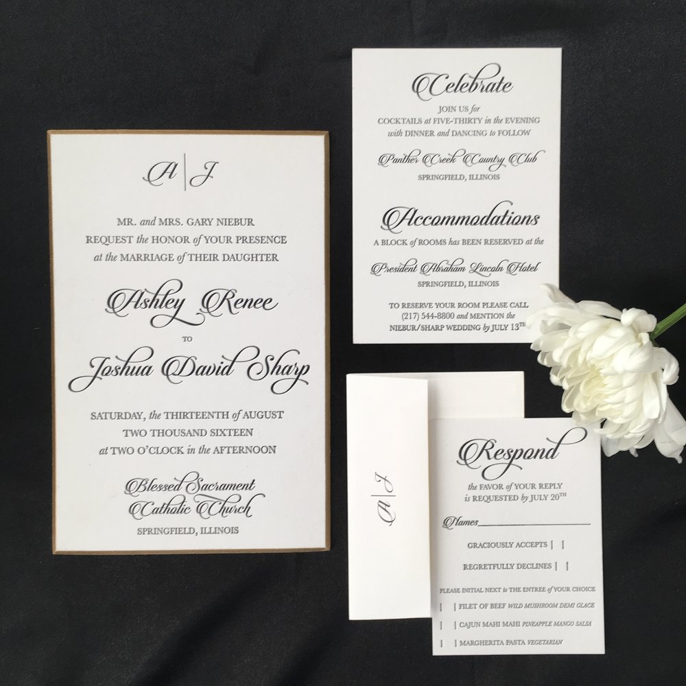 wedding invitations the paper boutique