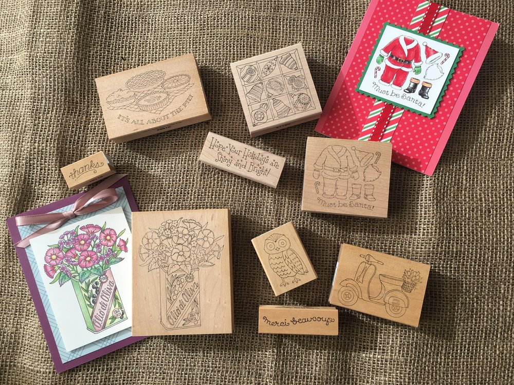 Pink Ink Stamps