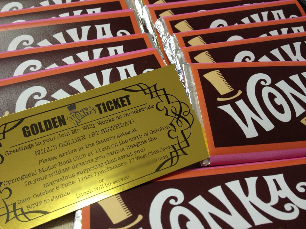 Wonka Party Invitaiton
