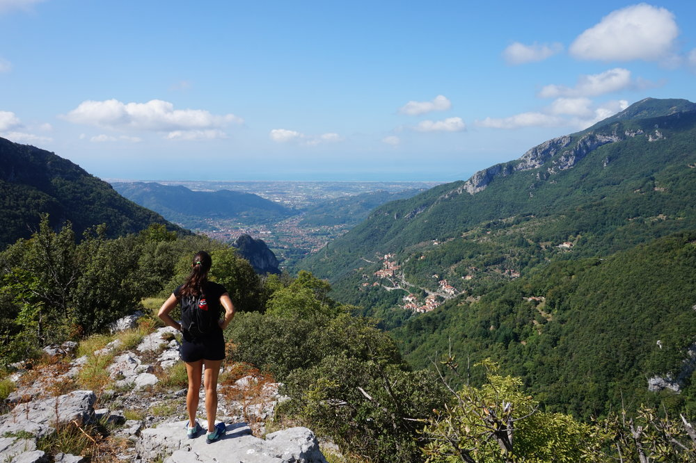Hiking in the Apuan Alps, Tuscany, Alpi Apuane