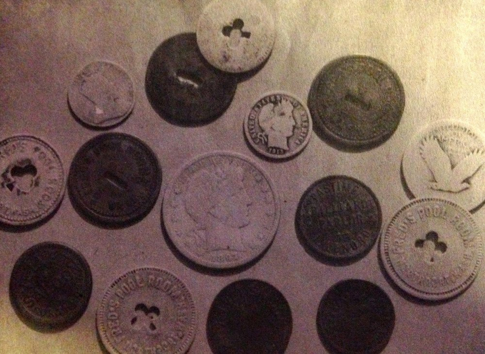 "tokens from ""Fred's Pool Hall"