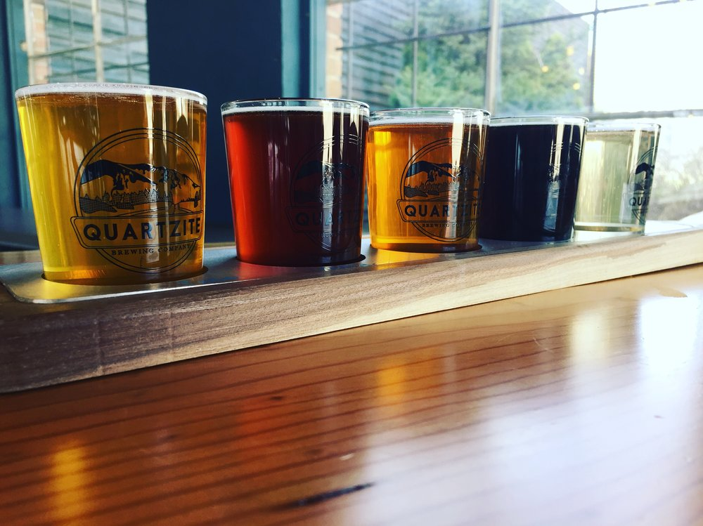 Quartzite Brewing taster flight