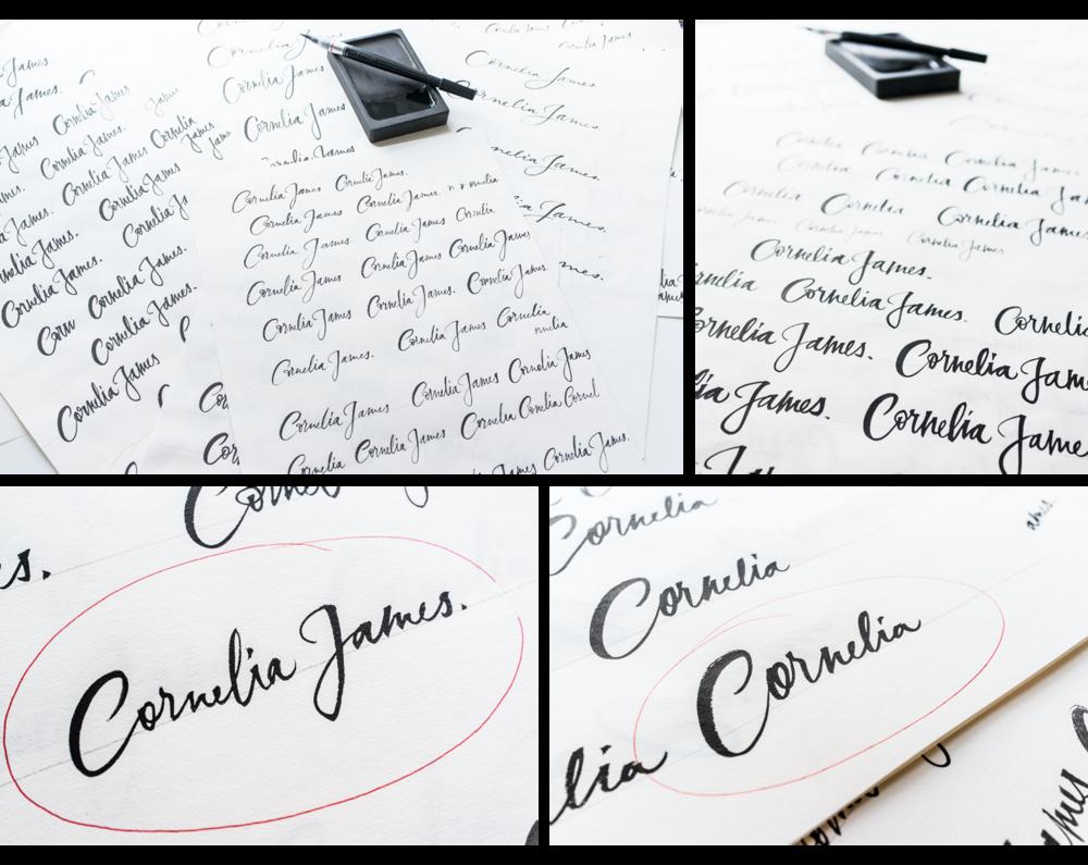 Cornelia-James-logo-calligraaphy-process.png
