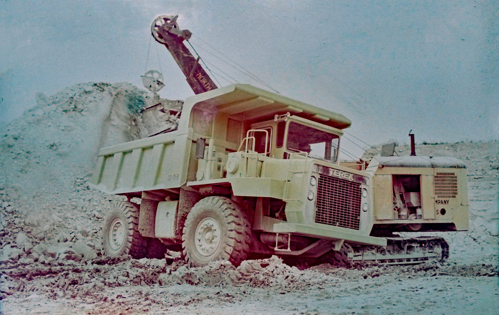 New Terex haul truck in 1977