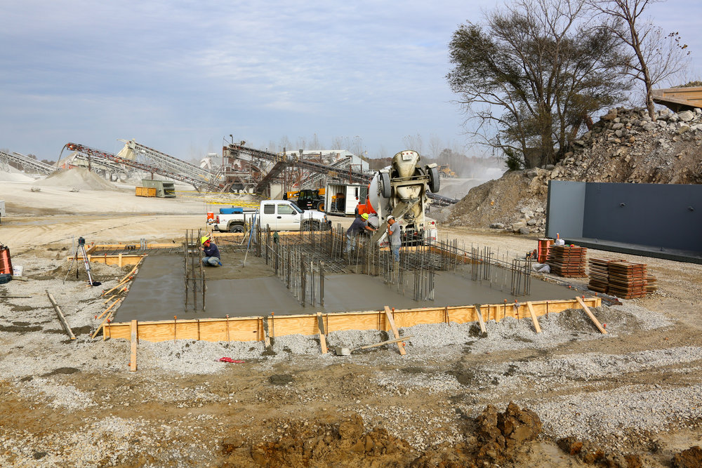 Pouring the Foundation for the Rock Box and Tower - November 5, 2013