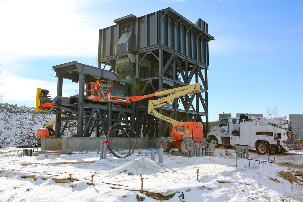 Under Crusher Conveyor Work - December 12, 2013