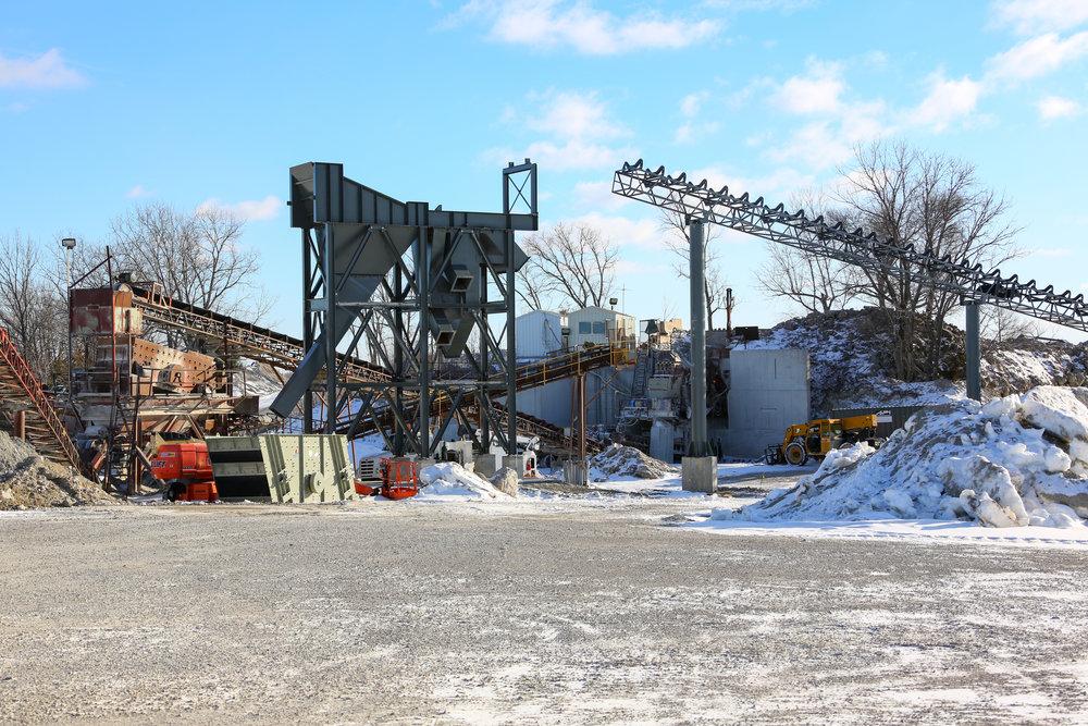 Screentower and Main Conveyor in Process - January 22, 2014
