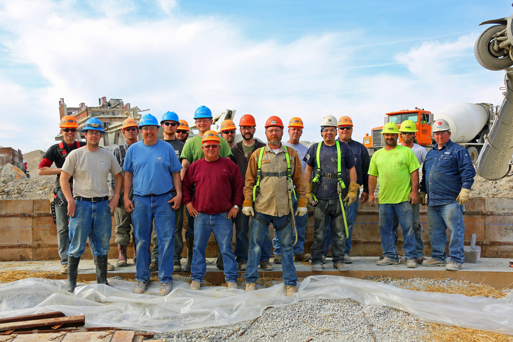 Construction Crew from Quality Lime, Sycamore Engineering, and Agrigate Processing - March 11, 2014