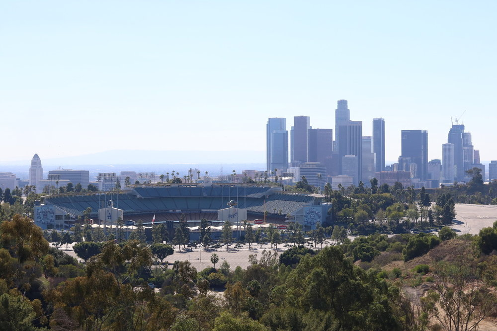 PEAK: Angels's Point - DIFFICULTY: 1/5SCENERY: Dodger Stadium, and sweeping views of Downtown LAFUN FACT: Dr. Belcher's research into the history of the LGBTQ+ community in Los Angeles has led to the discovery that the park has been a site for queer cruising, which has a long history in gay male communities.