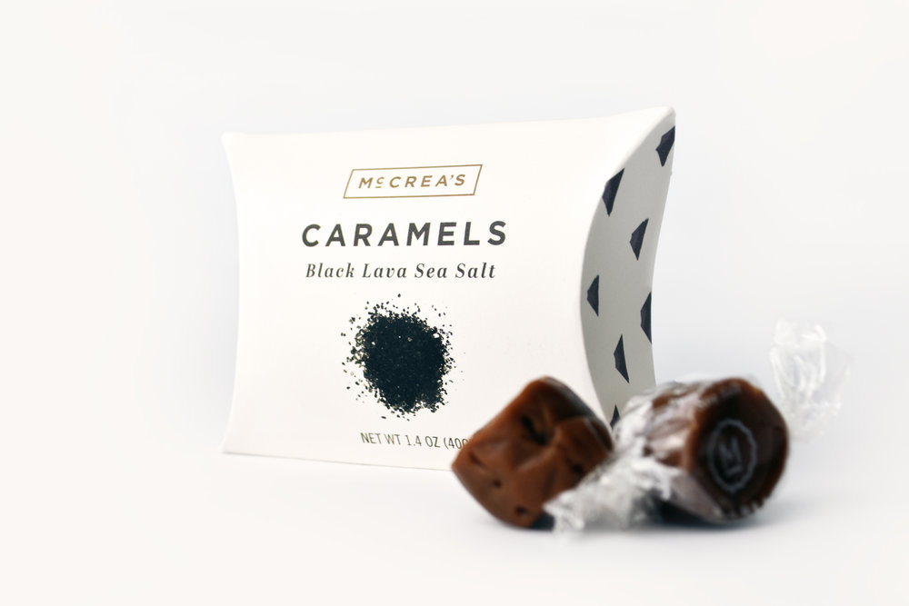 Caramels - Black Lava Sea SaltHandcrafted in MA. With salt from the Hawaiian Islands, these little bites give a glimpse into paradise in trying times.