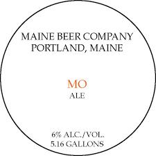 """Maine Beer Company """"MO"""" APA (6%) -- 5.16 Gal  PRICE $229.99"""