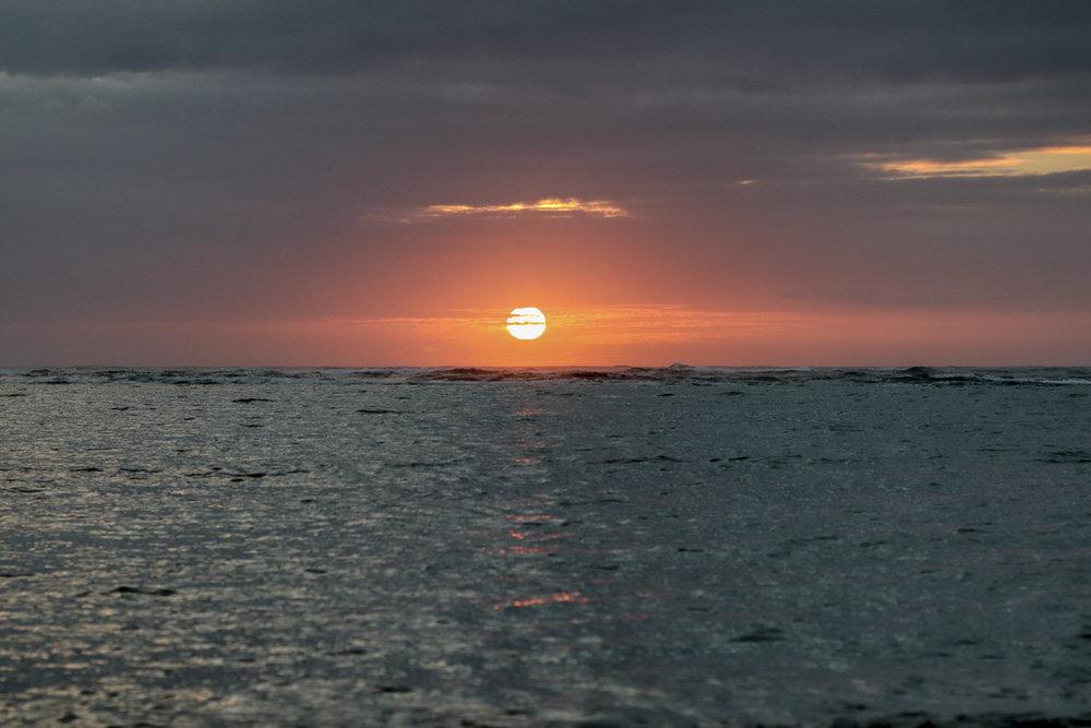 Sunrise in Oahu, Hawaii