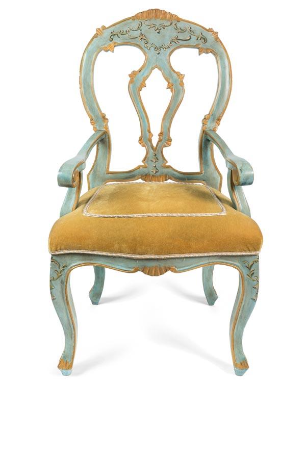 19th Century Painted Venetian Armchair (repro)