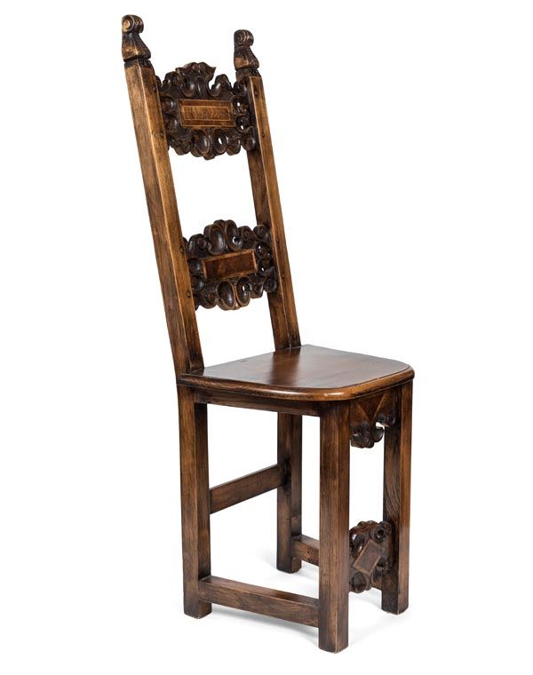 Early 1700s Hand Carved italian Side Chair