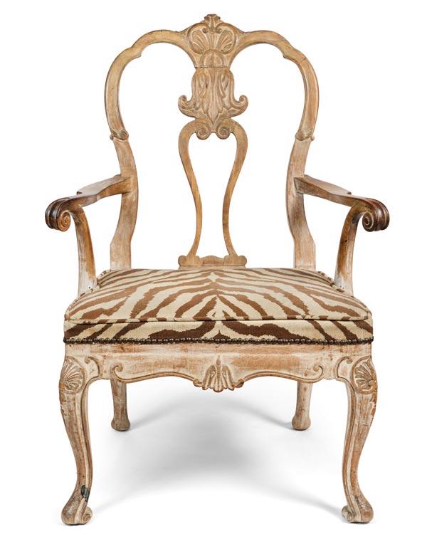Circa 1829 Italian Rococo Style Armchair