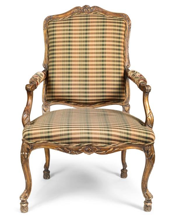 Mid 1700s French Hand Carved Armchair