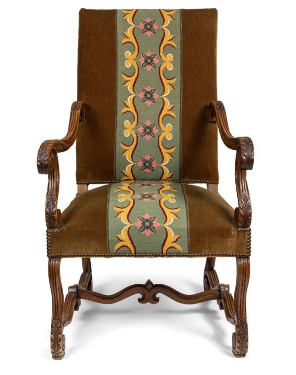 French 19th C. High Back Chair