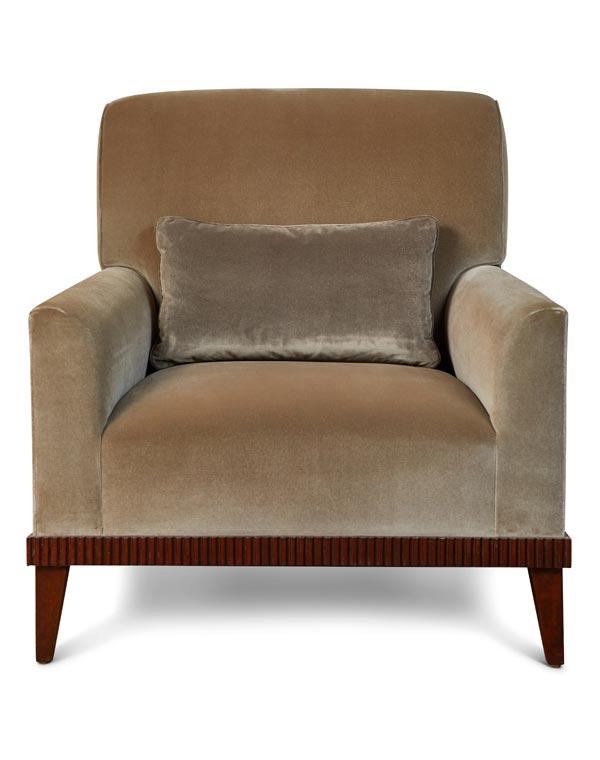 KS Design Silk and Velvet Fabric Armchair
