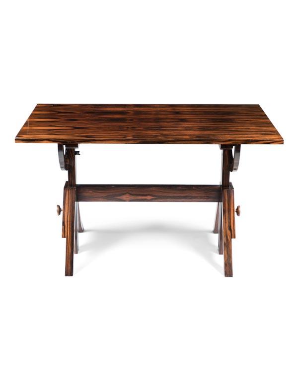 Makassar Ebony Veneer Deco Repro Table