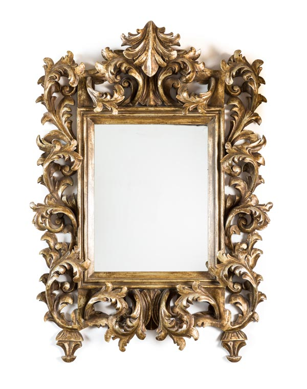 Hand Carved Repro of Baroque Mirror