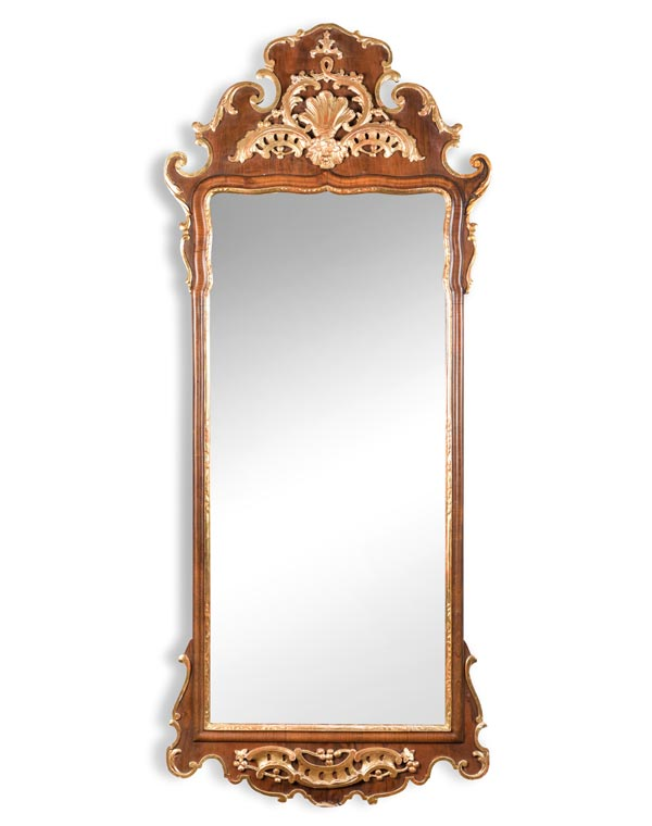 Antique Mahogany Georgian Style Mirror