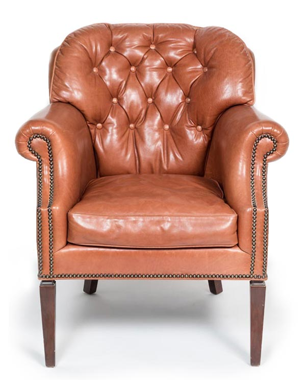 Custom Repro of 19th Century Library Chair