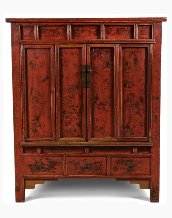 Early 1900u0027s Asian Inspired Cabinet
