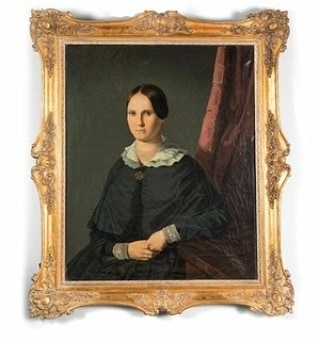 You can always add a touch of history with an Early 19th Century Antique Primitive Portrait! #Antique #Primitive #portrait #19thCentury #Art #interiordesign #19centurydesign