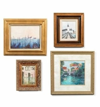 Want to be transported to Europe? Feast your eyes on these Romantic Sceneries! Made by Ilona Von Ronay, (Who we represent!) , This collection is based on Extravagant Castles in Austria and the beautiful Canals in Venice! #kspiegelmaninteriors #kspiegelmanantiques #KSpiegelman #Art #Antique #Sceneries #Paintings #Europe #Romantic #Castles #Canals #veniceitaly #Austria #IlonaVonRonay