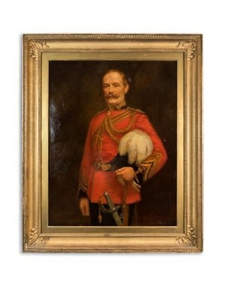 Who wouldn't love an original J. Nelson Campbell Oil painting of an English General from the Boer War, dated at 1902! A way to feel protected with elegance! #Art #oilpainting #Englishman #BoerWar #1902 #interiordesign #oldworldart #JNelsonCampbell #designstudio