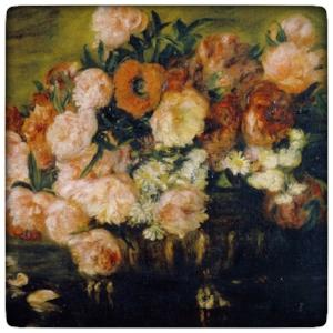 Pierre-Auguste Renoir's  Still Life with Peonies , 1872