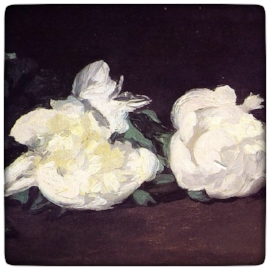 Edouard Manet's  Branch of White Peonies and Secateurs , 1864