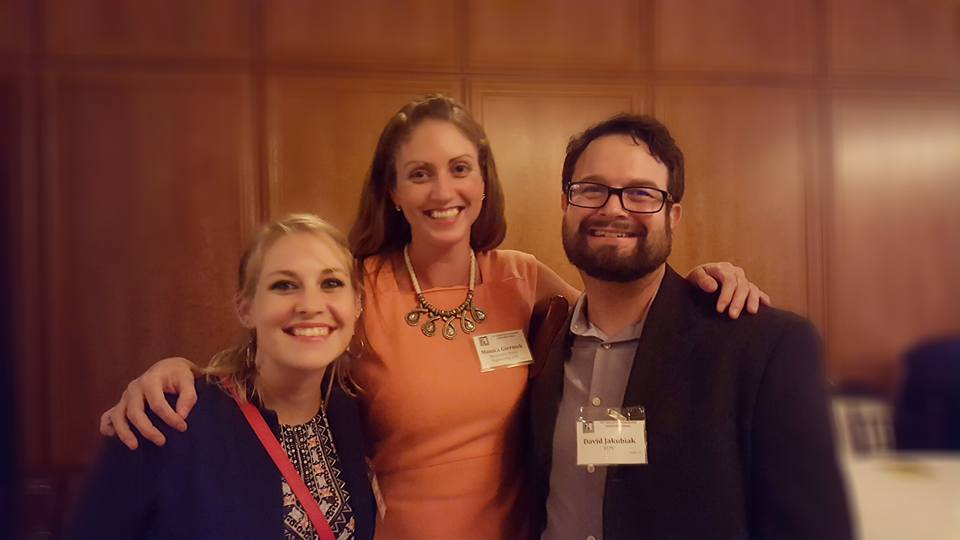 The support of friends made this vision possible. - Beth pictured here (far left) with Monica Grace Rockstroh and David Jakubiak. Not pictured but just as important, Noel Rozny.
