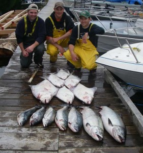 John B and crew with a Swiftsure haul
