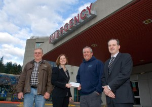 Port Renfrew Marina donation to Emergency Center