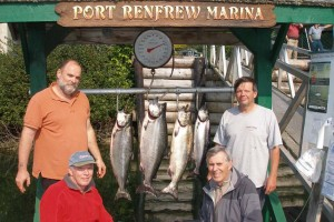 Neil Hanson & Bob Biggs & group with a 36 pounder and friends