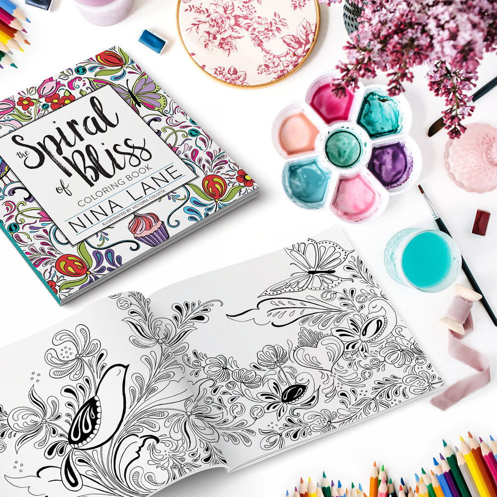 Spiral of Bliss Coloring Book