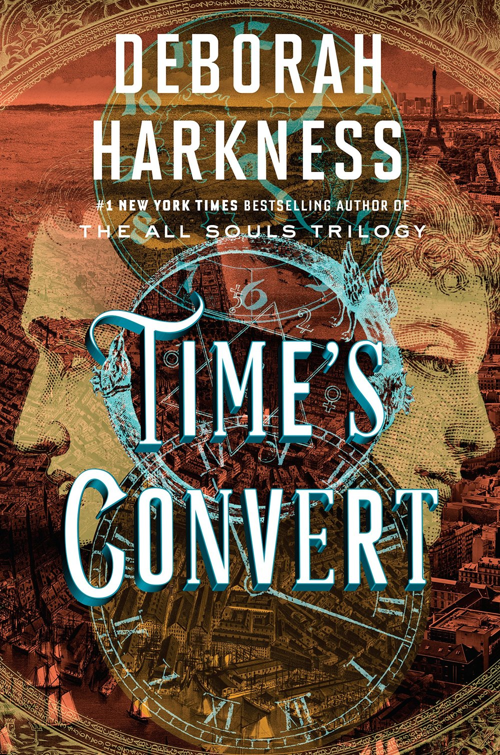 TIME'S CONVERT by Deborah Harkness   From the #1  New York Times  bestselling author, Deborah Harkness comes a passionate love story and exploration of the power of tradition and the possibilities for revolution. On the battlefields of the American Revolution, Matthew de Clermont meets Marcus MacNeil, a young surgeon, who offers Matthew a chance at immortality by becoming a vampire. Now, in contemporary Paris Phoebe Taylor--the young employee at Sotheby's whom Marcus has fallen for--is about to embark on her own journey to immortality. Though the modernized version of the process seems uncomplicated, the couple discovers that the shadows Marcus believed he had escaped centuries ago may return to haunt them both—forever.