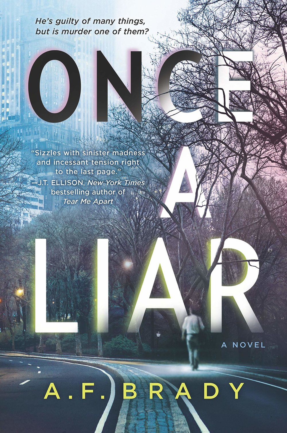ONCE A LIAR by A. F. Brady