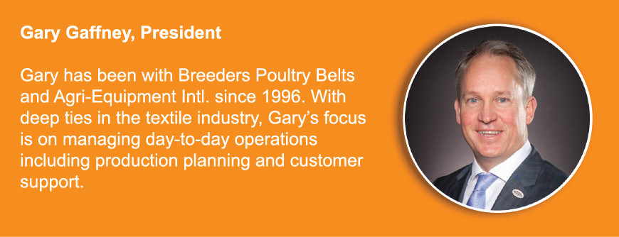 Breeders egg belting supplier