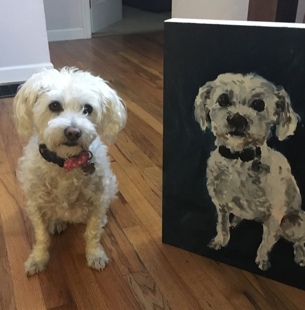 Lucy Pet Portrait Commission