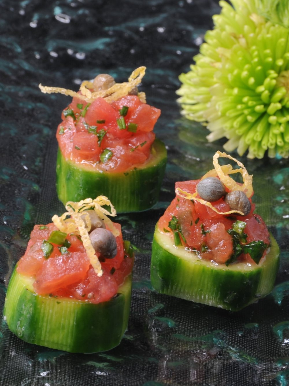 Pink Salt Cuisine - Tomato Tartare Appetizer