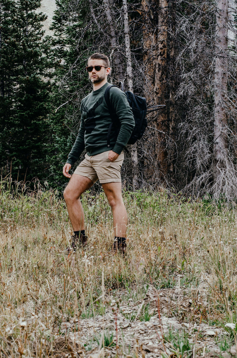 Menswear outfits for hiking in Colorado